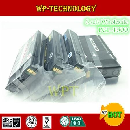 Juego de cartuchos de tinta compatibles 12PK para PGI1500 K C M Y, PGI-1500 para Canon MAXIFY MB2050, MAXIFY MB2350 etc.
