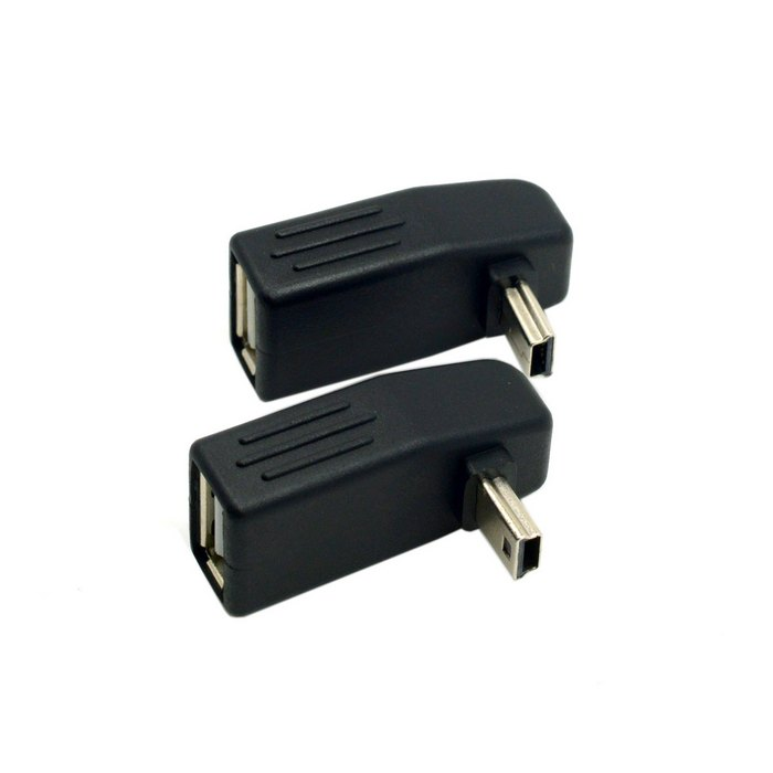 90 Degree Up & Down Right Angled Mini USB Type B to USB Female OTG Adapter for OTG usb host Car audio DVD GPS U disk MiniUSB OTG