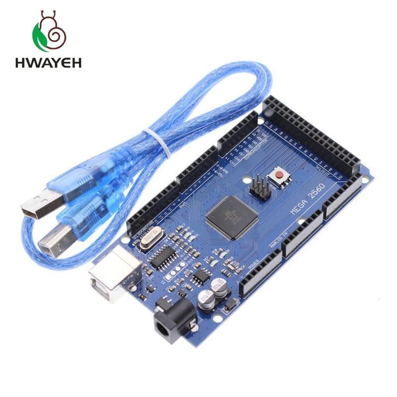 Livraison gratuite Mega 2560 R3 Mega2560 REV3 Conseil ATmega2560-16AU + Cable USB compatible para arduino Mega 2560 r3