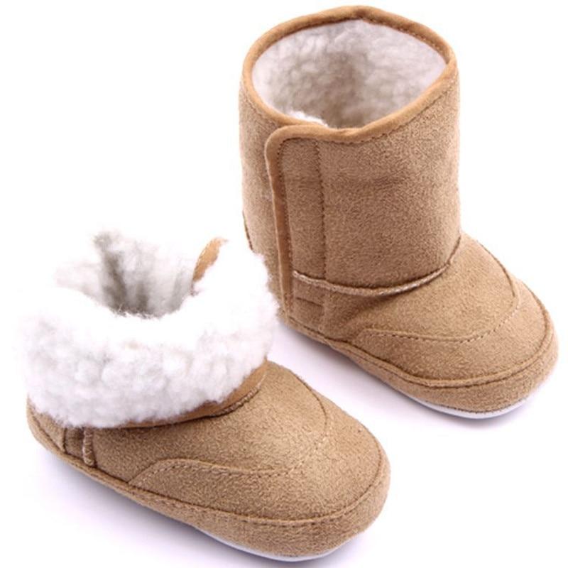 Hot Sale Winter Cotton Boots Baby Infant Shoes Girls Boys Bebe Snow Boots Children shoes Khaki /Pink/Blue