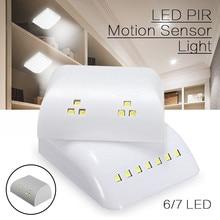 PIR Motion Sensor lampka nocna zasilany z baterii inteligentna lampka nocna LED z czujnikiem ruchu do szuflady szafy sypialnia A