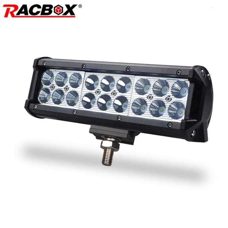 54W 9 pulgadas Offroad Barra de luz LED de obra haz Combo para automóvil motocicleta ATV SUV MPV UAZ 4WD camión Tractor auto Stlying 12V 24V
