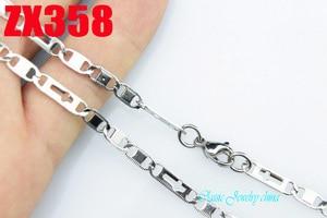 4 mm cross lamellar chain stainless steel necklace fashion women man chains 20pcs ZX358
