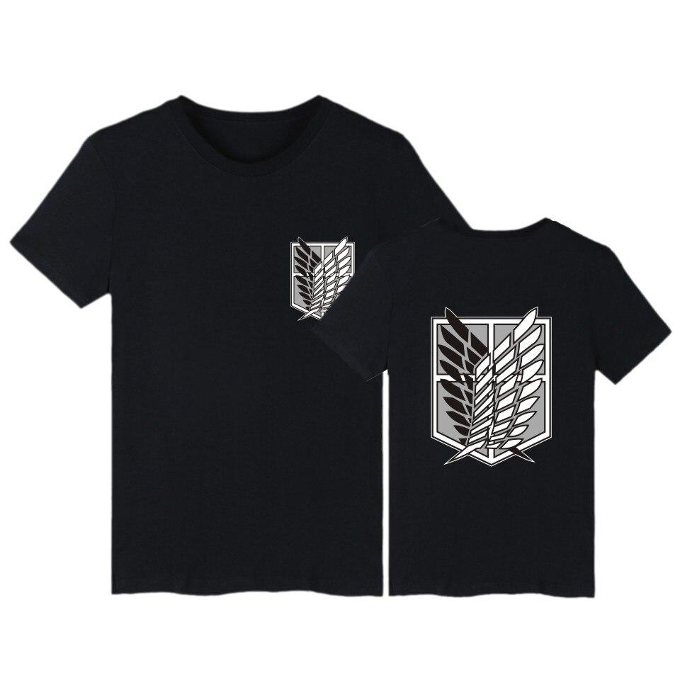 Attack on Titan футболка аниме размера плюс футболки летние топы мужская футболка с коротким рукавом Одежда в уличном стиле с принтом из мультфильмов футболка одежда для мальчиков