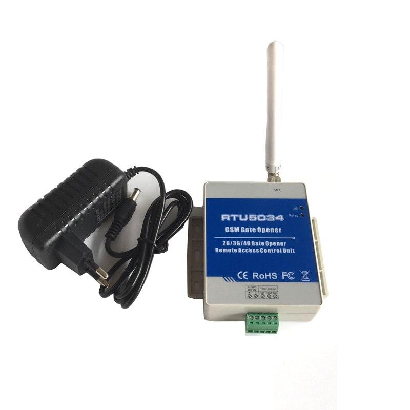 RTU5034 GSM interruptor de relé de acceso de puerta con Control remoto por llamada gratis sistema de alarma de casa de seguridad para abridor de puerta automático