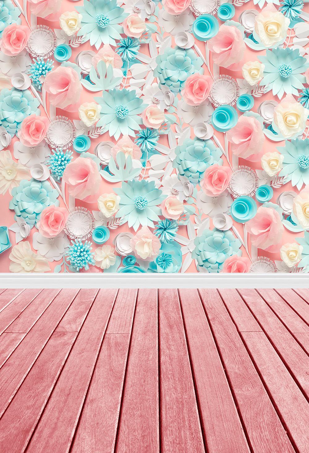 Telón de fondo de fotografía Floral para cumpleaños, foto de flores, Fondo de fotografía, ideal como cabina de fotos, W-1764 de vinilo sin brillo HUAYI