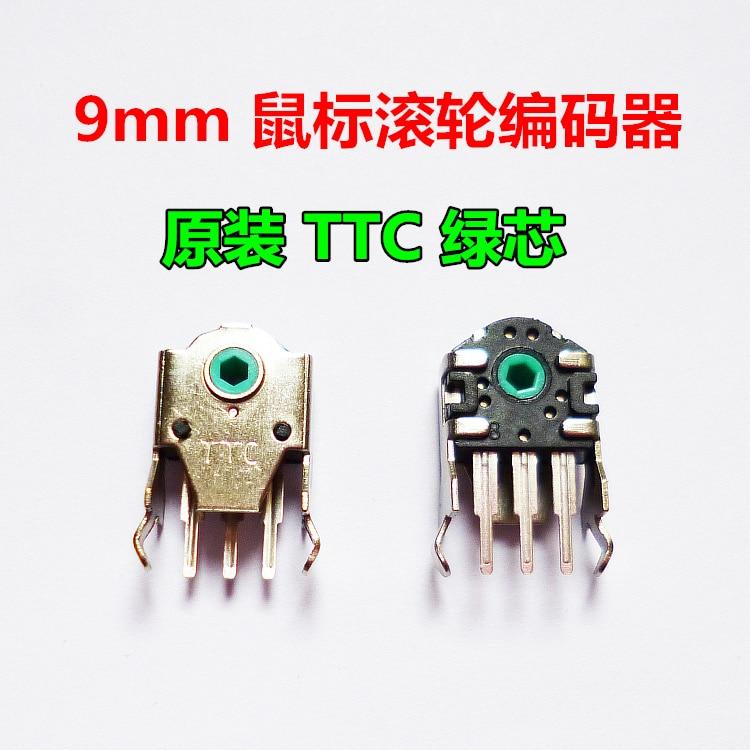 2pcs TTC encoder for Razer  deathadder mamba imperator / steelseries sensei raw xai 9mm green core  mouse wheel encoder