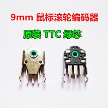 2 pièces TTC encodeur pour Razer deathadder mamba imperator/steelseries sensei raw xai 9mm noyau vert souris roue codeur
