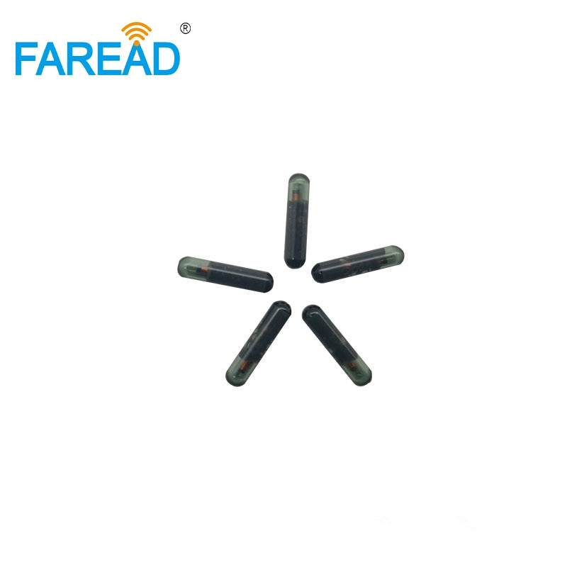 X10pcs 3*13mm 125 khz RFID transponder de vidro para Identificação