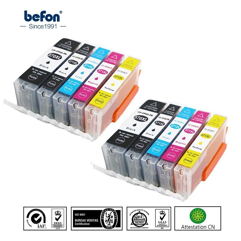befon PGI 570 CLI 571 Ink Cartridge Replacement for Canon MG5750 MG5751 MG5752 MG6850 MG7750 MG6853 MG7753 TS5050 TS5051