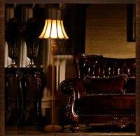 Gold copper floor light fixture fashion luxury standard lamp royal fortuny retro classic floor light