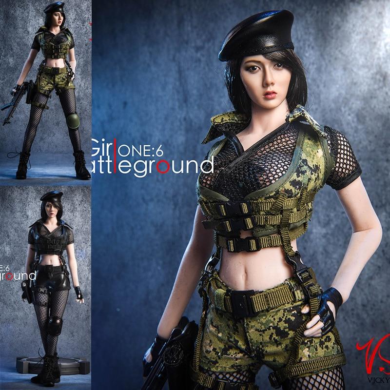 VStoys 18XG13 1/6 escala campo de batalla chica traje para figura de acción