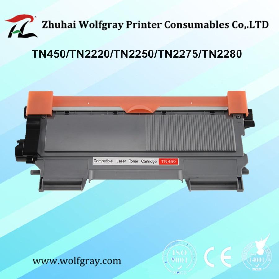 Compatible toner cartridge for brother TN-450 TN450 TN2220 TN2250 TN2275 TN2280 MFC-7360/7362/7460/7470/7860/7290 DCP-7055/7060