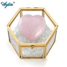 Ayliss agradável tampa de vidro claro terrário caixa de jóias pulseira colar brincos anel exibição de jóias organizador caixa decorativa caso