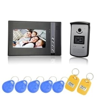 1 set free shipping 7 inch one to one video door phone color display door access supervistor and rfid card
