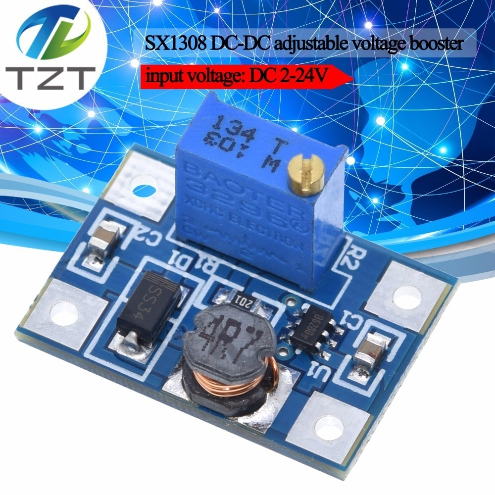 Smart Electronics 2-24V to 2-28V 2A DC-DC SX1308 Step-UP Adjustable Power Module Step Up Boost Converter for DIY Kit