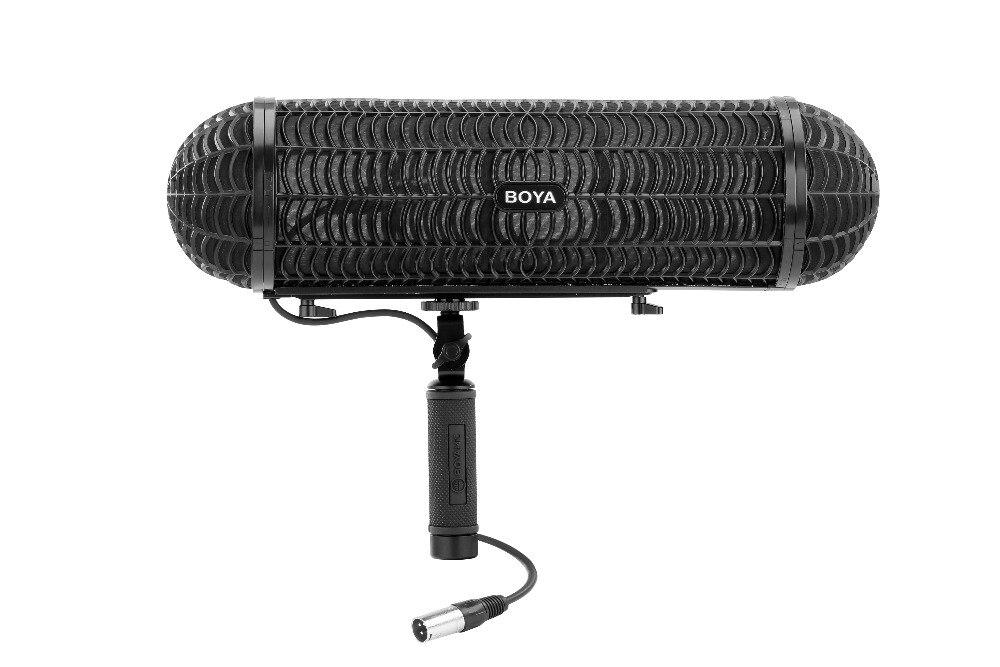 بويا BY-WS1000 الميكروفونات المنطاد الزجاج الأمامي تعليق نظام لاطلاق النار بندقية Mic لكانون نيكون سوني DSLR كاميرا مسجل