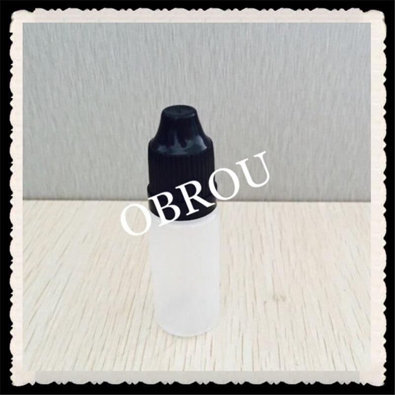 شحن مجاني بالجملة eliquid زجاجات 2500 قطع 10 ملليلتر زجاجة بلاستيكية مع غطاء أسود حريزعلى
