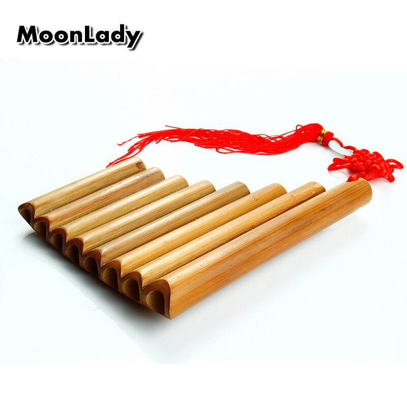 Brown 8 Pipes Pan Flute Small Size Original Color Pan Pipe Chinese Musical Instruments Traditional Handmade Woodwind Instrument enlarge