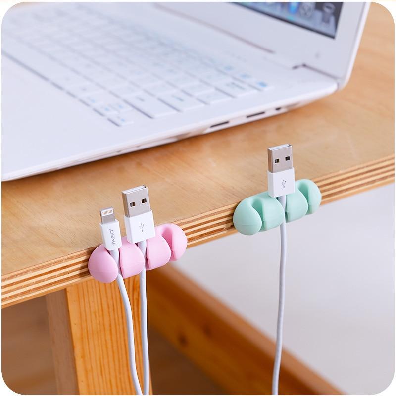 2 pçs cabo de silicone enrolador vara-no fio fone de ouvido fone de ouvido fio envoltório cabo enrolador organizador cabo coletor hottop