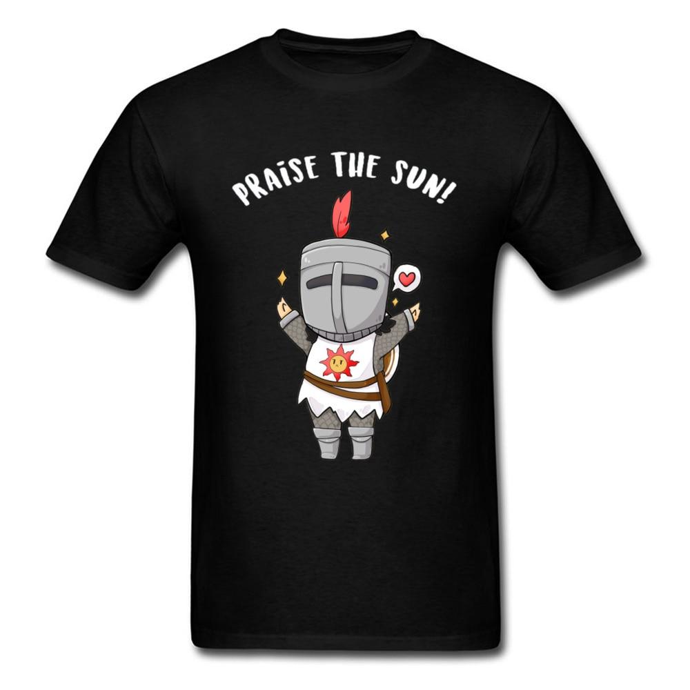 Camiseta Kawaii para hombre, camiseta de alabanza del sol, camiseta Bloodborne Gamer Dark Souls, camisetas de dibujos animados, divertidas camisetas de verano de gran tamaño