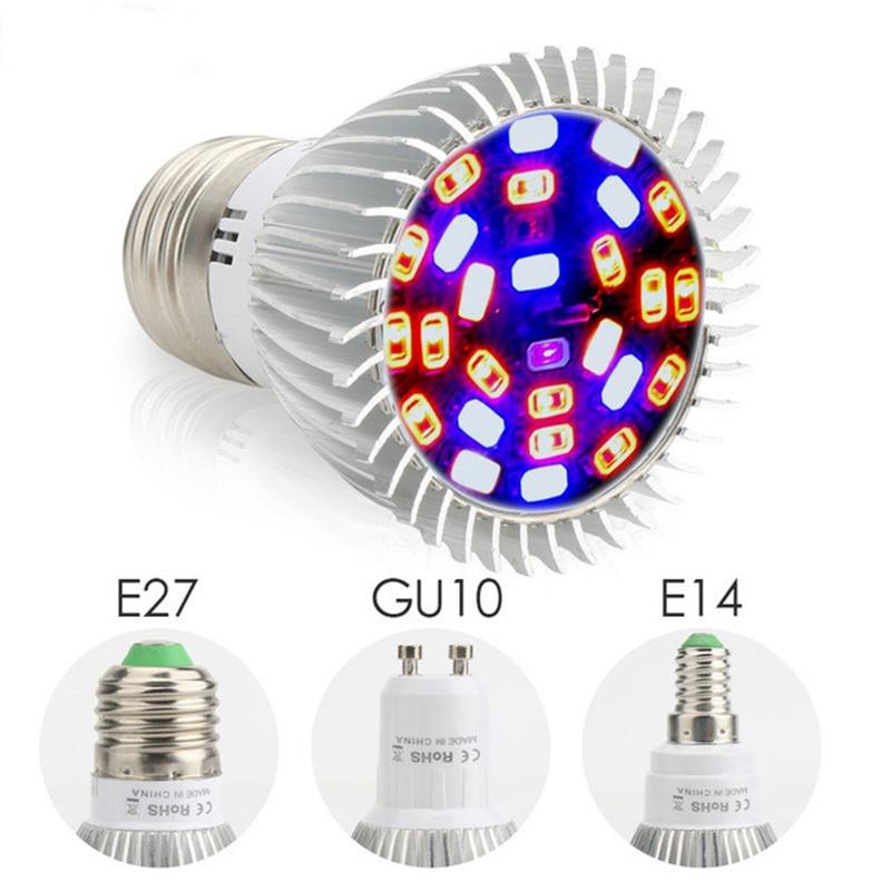 Z20 espectro completo 18W 28W E27 E14 GU10 Led LUZ DE CRECIMIENTO rojo azul UV IR 86-265V lámpara de cultivo para flor hidropónica vegetal