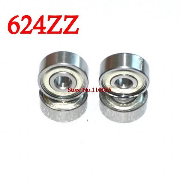 10 pçs/lote 624 624Z 624ZZ ball-bearing 4*13*5mm aço cromo-rolamento