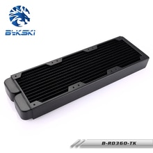 Двухрядный медный радиатор Bykski B-RD360-TK, 360 мм, 3х12 см, водяное охлаждение, 38 мм