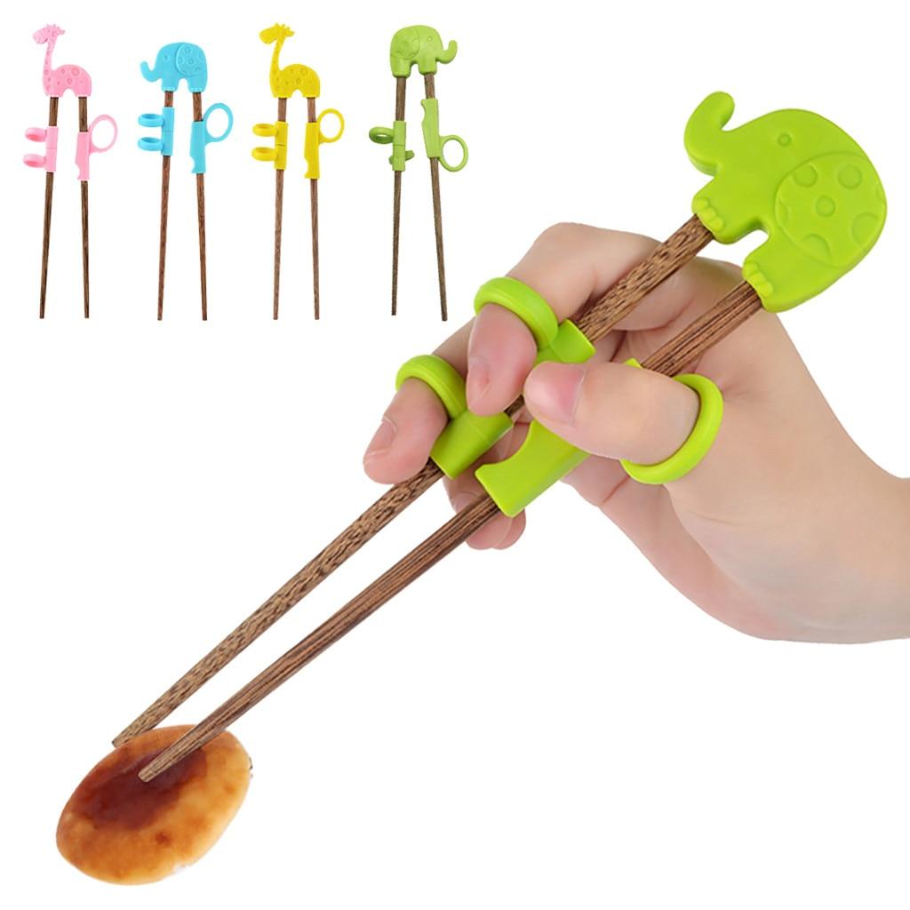 Kids Training Helper Portable Cartoon Learning Training Chopsticks Children Tab L513