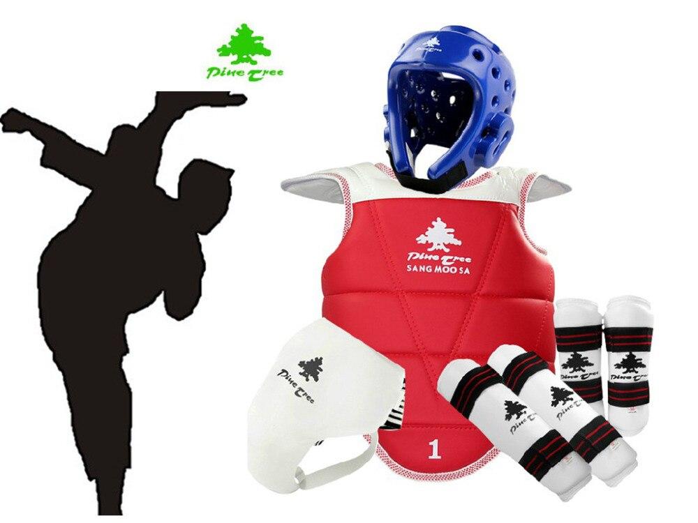 Protector de Taekwondo profesional WTF, conjunto de casco para adultos, Protector de pecho, espinillera, Protector de brazo, equipo de entrenamiento de guardia de ingle