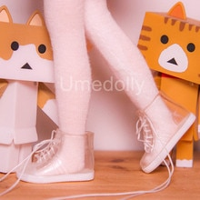 1 par de calcetines bonitos de Color caramelo + Botas de lluvia para Blyth, Azone, Licca, Jerryberry 1/6 accesorios para zapatos de muñeca