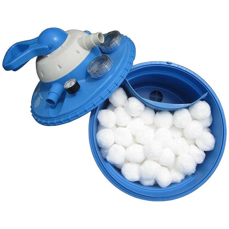 Filtro bolas piscina ecológico fibra filtro medios piscina arena filtros reemplazo