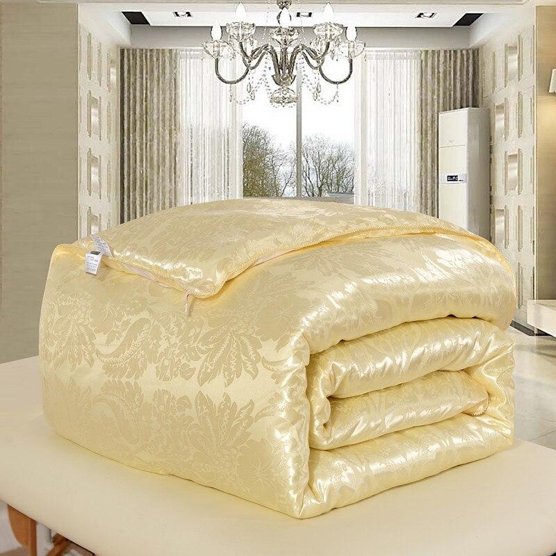 لحاف حرير التوت الطبيعي 100% ، لحاف للشتاء/الصيف ، مقاس كينغ/كوين كامل ، لحاف/بطانية/لحاف ، حشو أبيض