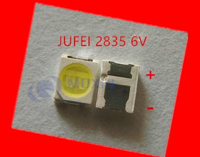 4000 piezas Konka Changhong Amoi de retroiluminación LCD TV Jufei 3528 SMD LED 2835 6V blanco 96LM para TV retroiluminación de la pantalla LCD