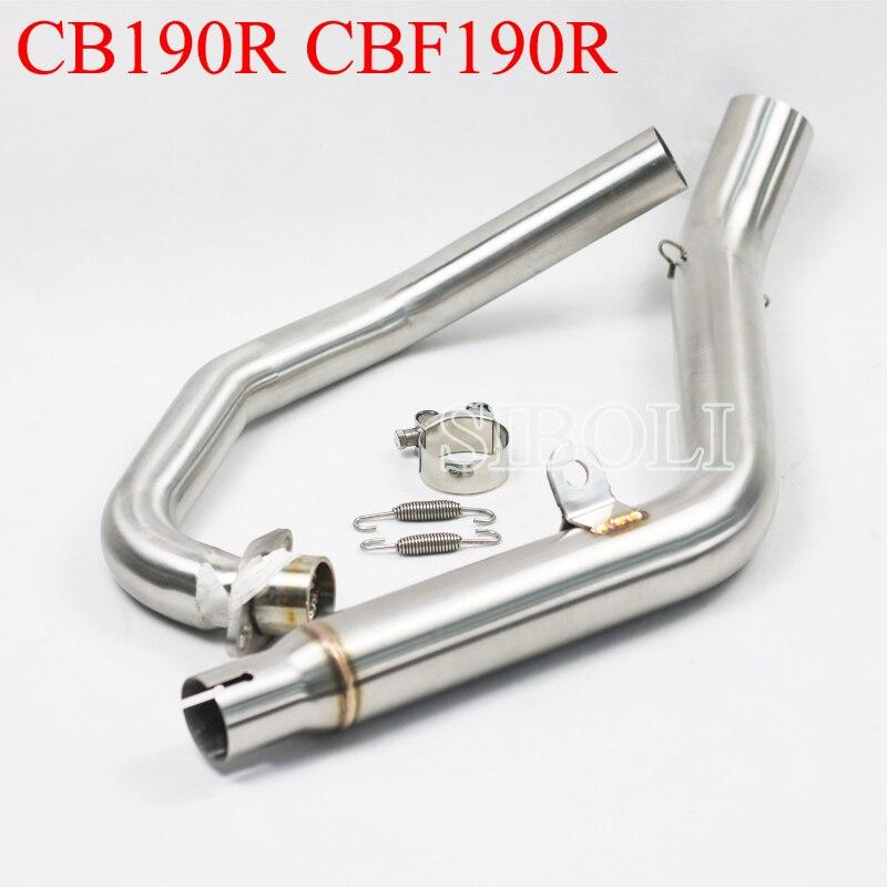 CB190R CBF190R tubo de escape delantero de motocicleta para HONDA CB190R CBF190R AK083