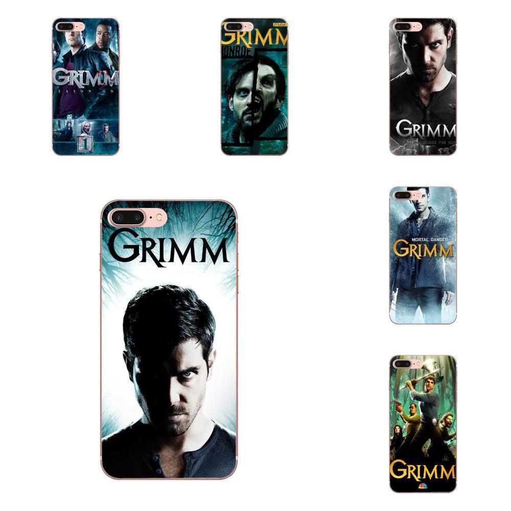 Para iPhone X de Apple XS Max XR 4 4S 5 5C 5S SE 6 6S 7 8 Plus de silicona suave TPU Capa Coque Grimm