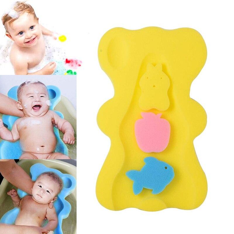 Baby Infant Weiche Bad Schwamm Sitz Anti-Slip Schaum Matte Körper Unterstützung Kissen Pad Bad Lieferungen NSV775