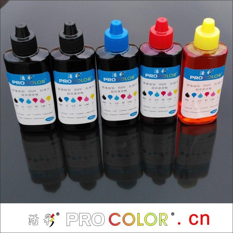 774 tinta de pigmento CISS EcoTank ink 664 tinta de tinte kit de recarga para Epson ET-14000 ET14000 ET 14000 L 606 656 L606 L656 impresora de inyección de tinta