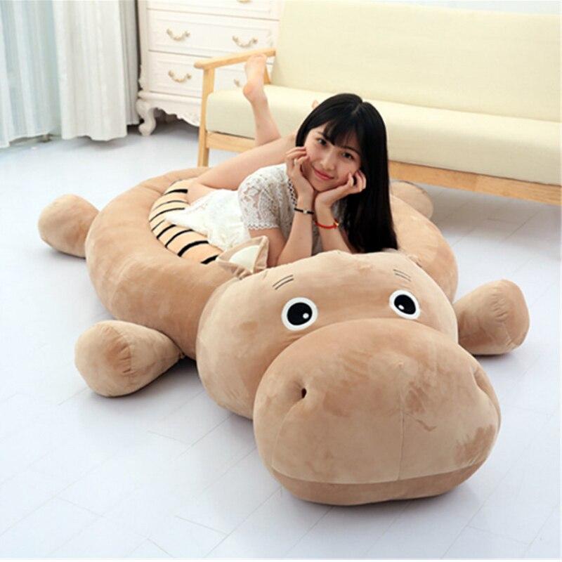 Fancytrader animales grandes hipopótamo Tigre pato perro Tatami cama peluche Anime juguetes alfombra 200 cm X 100 cm