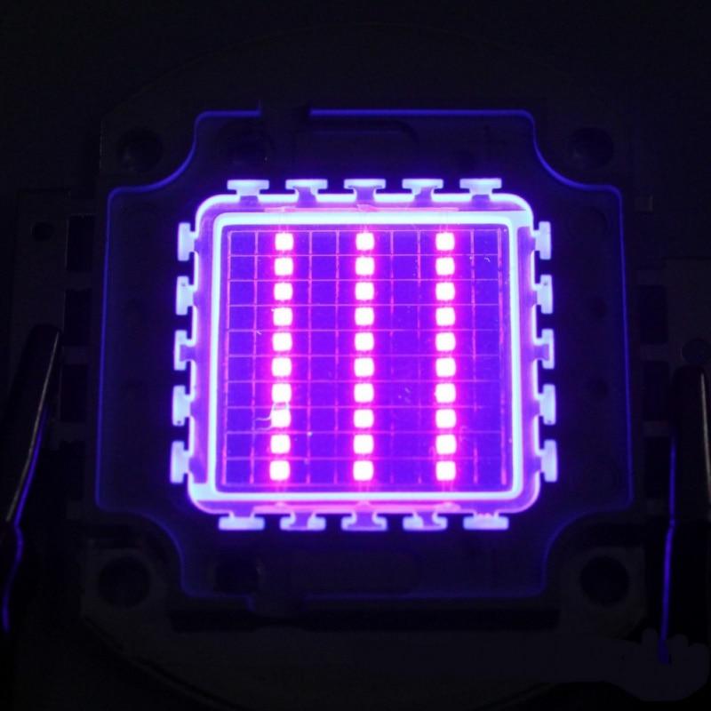 High Power Led Chip 100 W Lila Uv (UV 405nm/3000mA/DC 30 v-34 v /100 W) SMD COB Licht 100 W Ultra Violet Birne Lampe