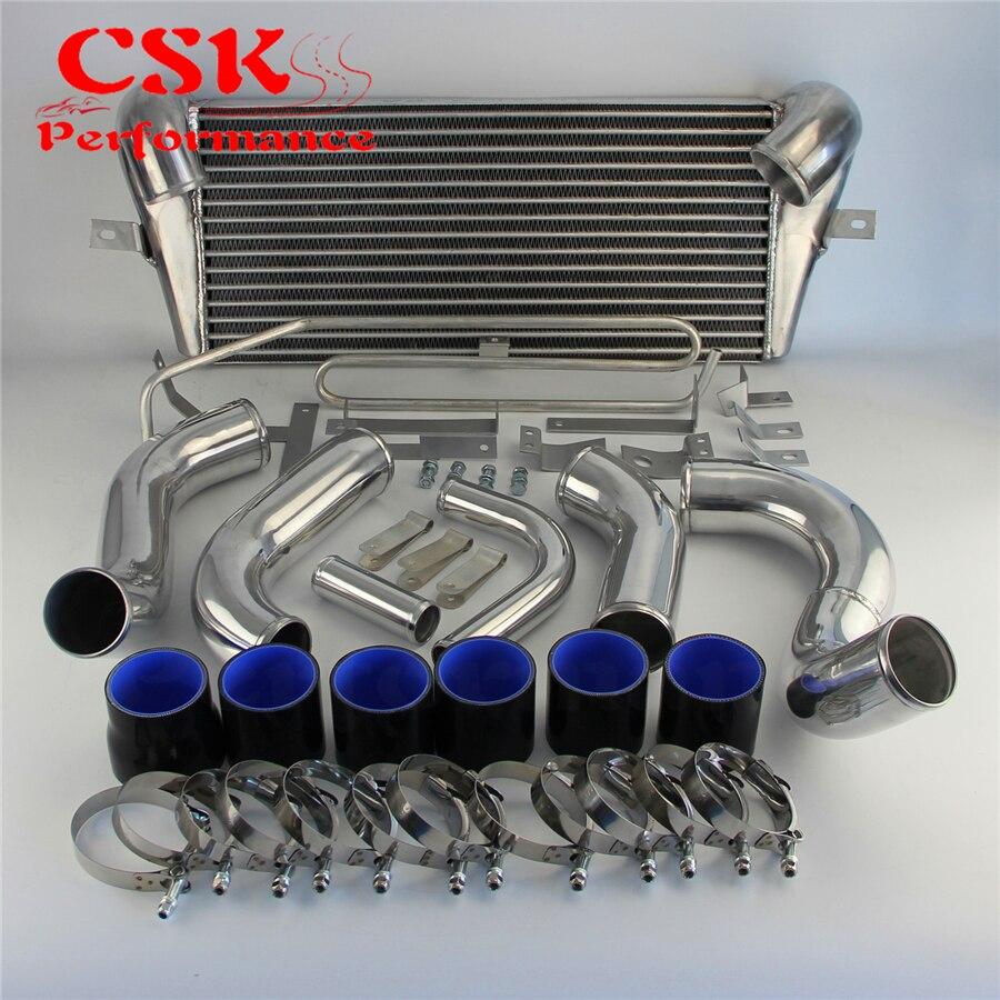 Se encaixa para mazda 93 94 95 96 97 rx7 fd3s fmic montagem frontal intercooler + tubulação turbo azul/preto/vermelho