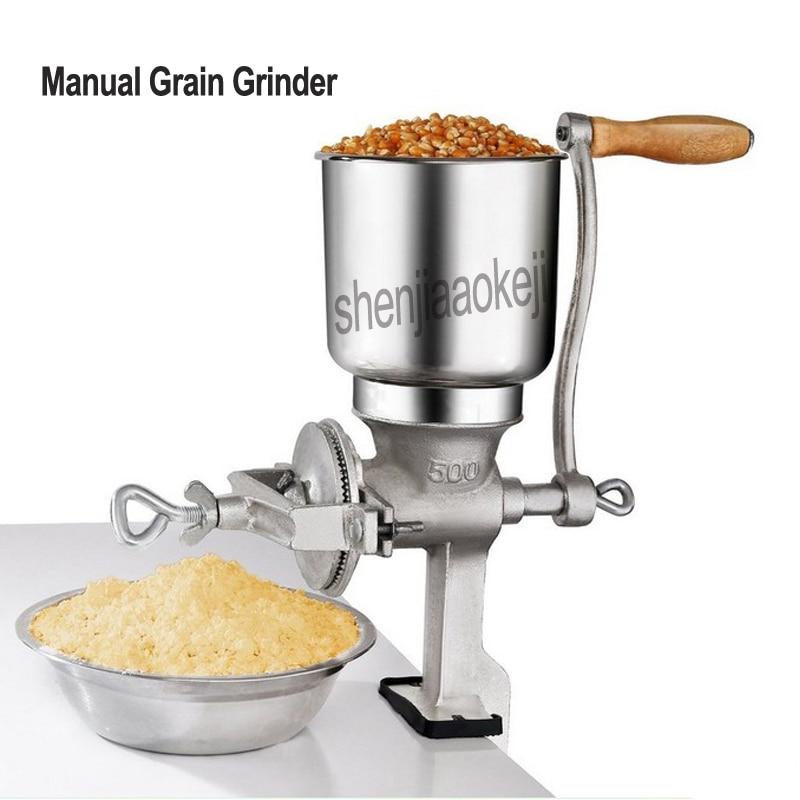 مطحنة حبوب يدوية ، ذرة ، جوز ، فول الصويا ، أرز ، آلة تنقيط يدوية ، مطعم ، حبوب