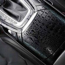 150*20 cm adesivos automotivos interior do carro adesivo filme simulação de couro crocodilo textura decoração estilo do carro acessórios