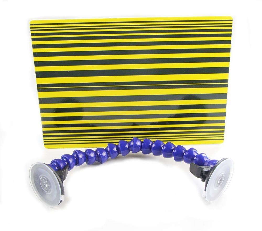 Herramienta de reparación de automóviles Furuix, tabla reflectante para tablero de línea de cinta para detección de abolladuras sin pintura, herramienta de extracción y reparación, tablero Reflector