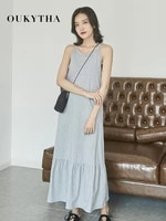 summer tank long dress women 2019 new dresses casual cotton dresses for holiday loose beach dress female summer clothing 2019