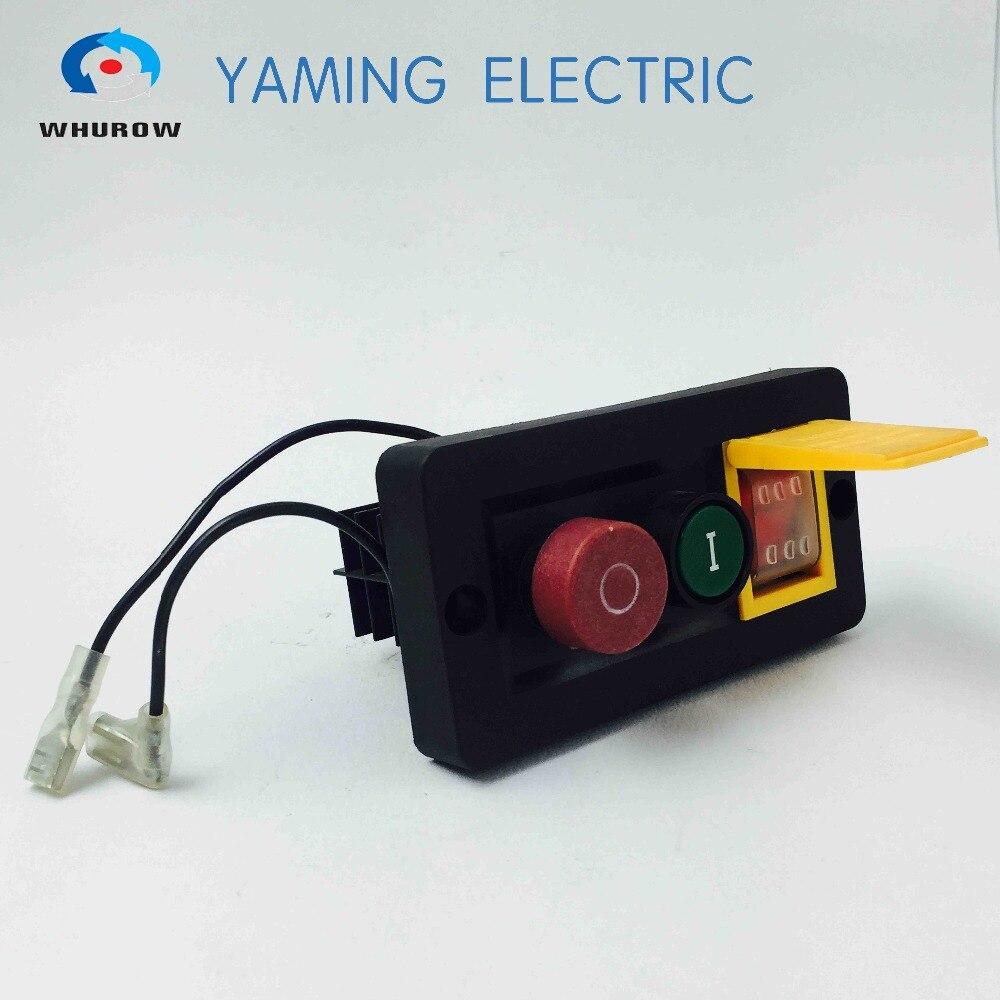 Interruptor electromagnético 10 Pin On Off botón rojo verde 16 a 230V interruptor basculante 6 pin FWD-REV interruptor combinado YCZ6