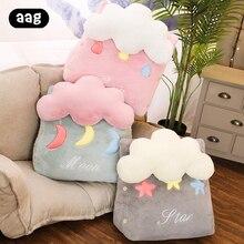 Cute Cloud Triangular Sofa Cushion Pillow Office Chair Back Support Cushion Bed Backrest Lounger Reading Lumbar Cushions Pillows