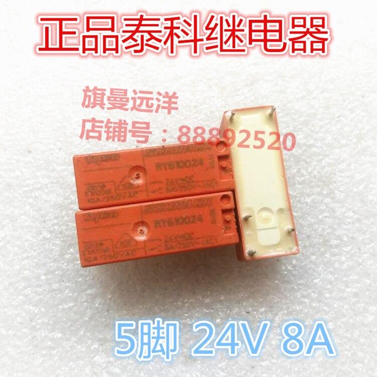 RY610024 24VDC relé de 24V 8A 5 pies RY610024