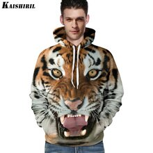 Männer hoodies sweatshirt männer lustige 3D Tiger Löwe fashion harajuku marke plus größe S-3XL gedruckt hoodie männer frauen pullover