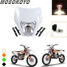 Supermoto белая фара для мотокросса маска для KTM SX EXC XCF SXF SMR эндуро велосипед 2013-2017